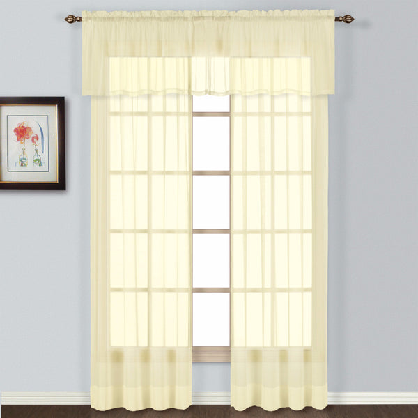 Batiste Semi Sheer Panel and Valance