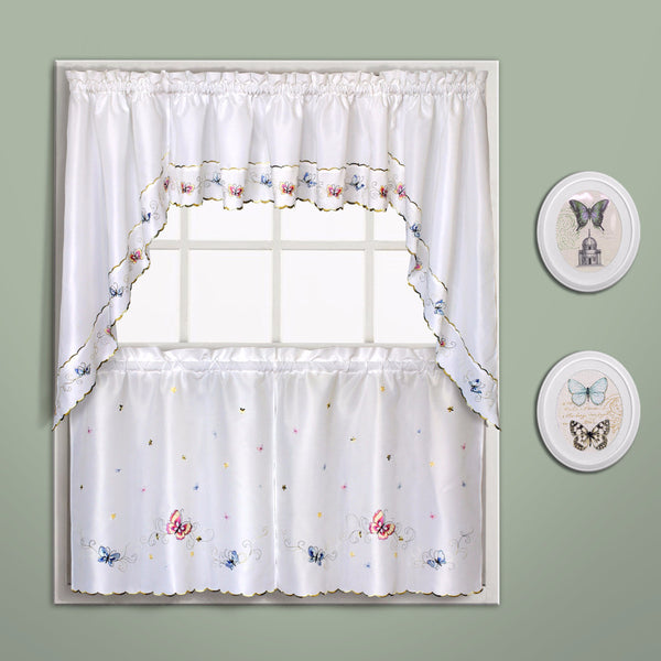 Butterfly-Embroidered-Kitchen-Tiers-Valance-And-Swags-Multi-Zoom