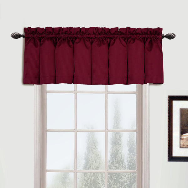 Metro-Rod-Pocket-Valance-Burgundy-Zoom