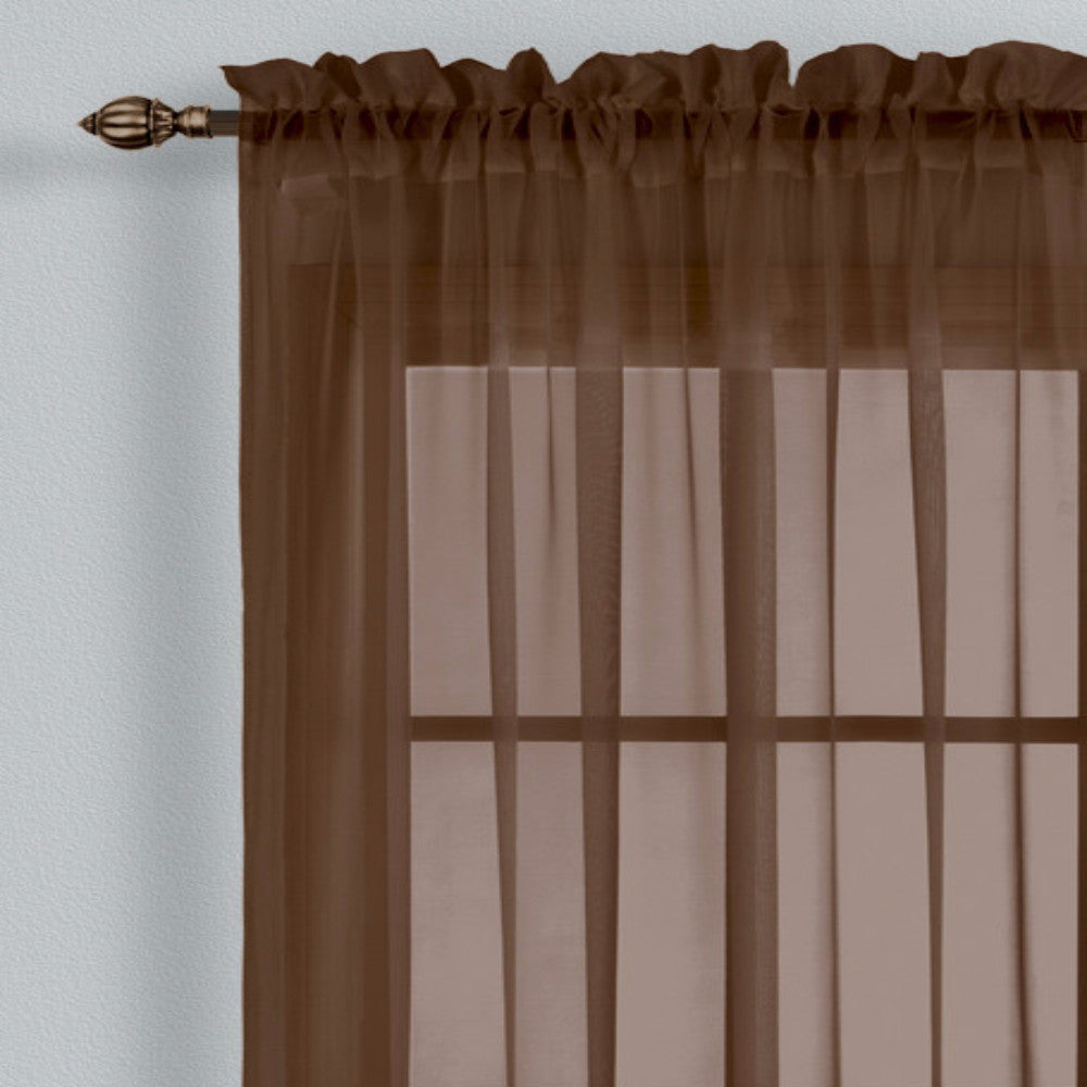 Monte Carlo Sheer Voile Rod Pocket Panel Pair And Scarf