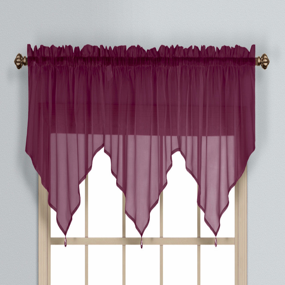 valances valance colored diamond burgundy solid tie up patterned double luckybird prints