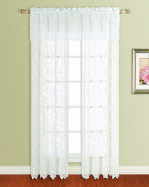 New Rochelle Lace Straight Valance and Panel