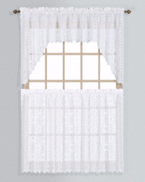 New Rochelle Lace Kitchen Tiers, Valance, and Swags