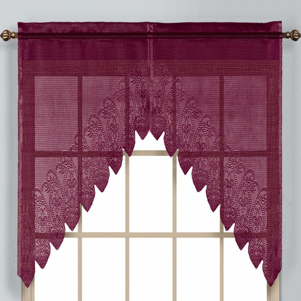 Valerie Macrame Sheer Kitchen Amp Tier Curtains United