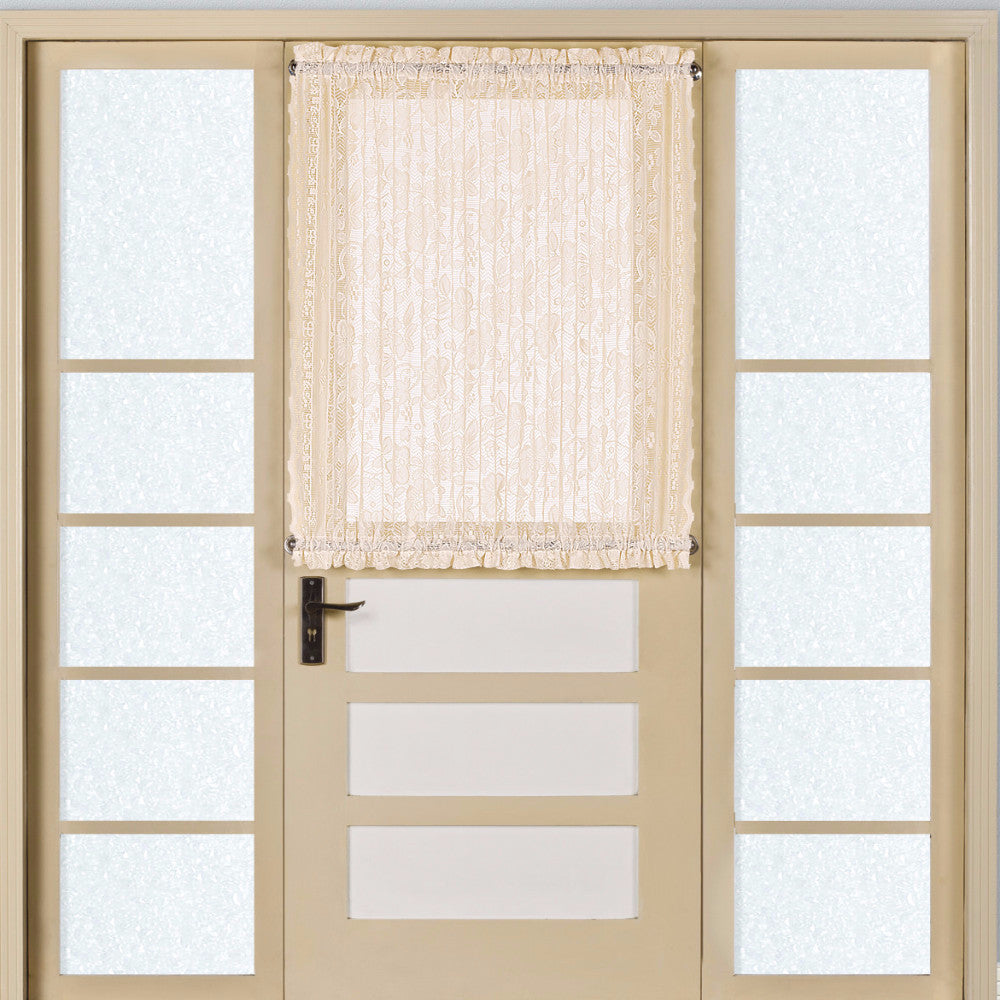 Natural Windsor Floral Lace Door Panel