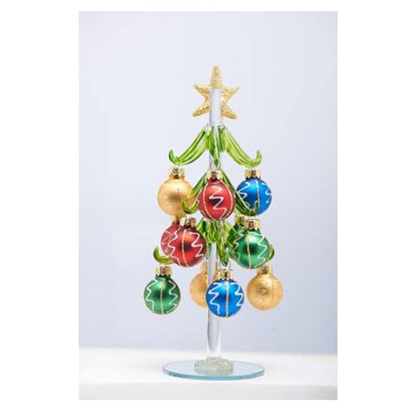"Glass Christmas Tree 8"" outside of box"