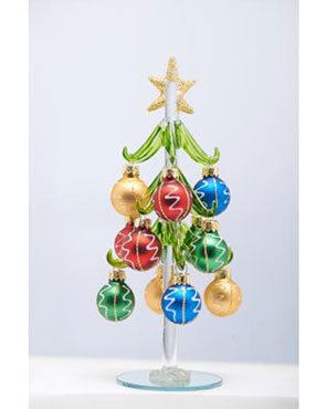 "8""-Glass-Christmas-Tree-XM-1054"