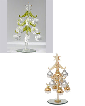 "8"" Glass Christmas Trees"