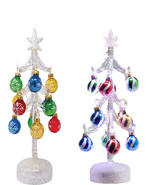 Light Up 10 Glass Christmas Treels Arts Inc