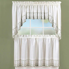 Abby Embroidered Tier, Valance and Swag