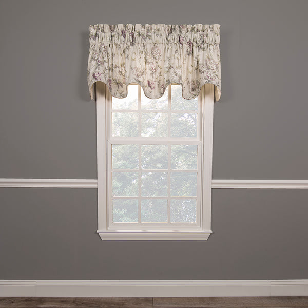 Abigail Lined Scalloped Valance
