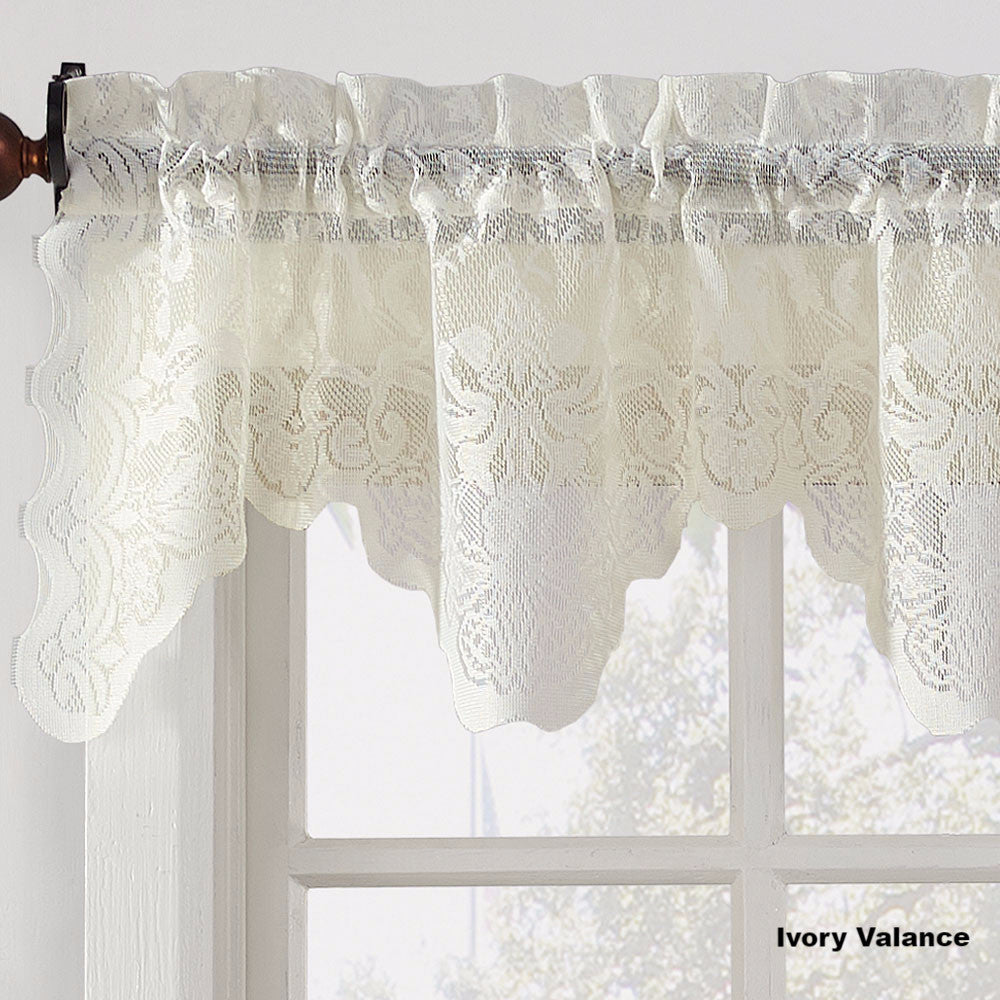 p lace valance sha tailored shade trousseau balloon