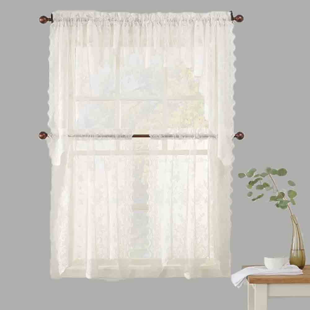 No. 918 Alison Jacquard Sheer Lace Kitchen Curtain/ Lichtenberg