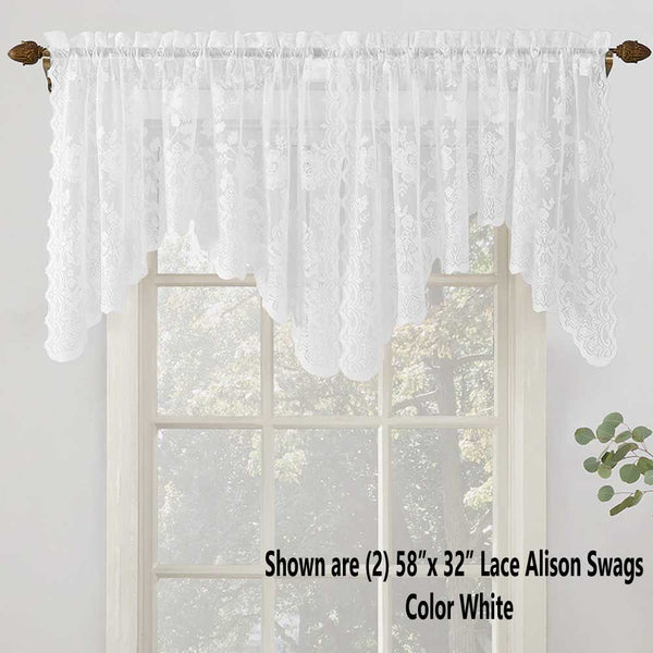 No 918 Alison Jacquard Lace Curtain Panel Lichtenberg