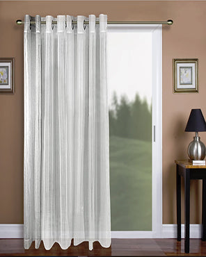 Atlantic Stripe Semi-Sheer Grommet Top Patio Panel