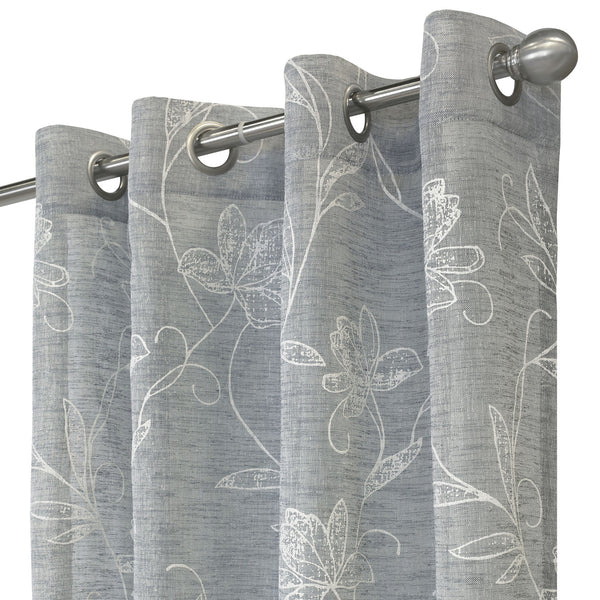 Anemone Faux Linen Grommet Top Panel
