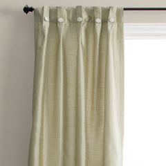 Artisan-Box-Pleated-Back-Tab-Patio-Panel-With-Buttons-Taupe-Zoom