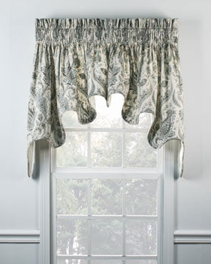 Artissimo Lined Duchess Valance hanging on a curtain rod
