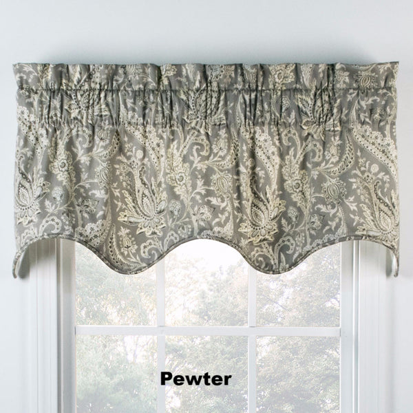 Artissimo Lined Filler Valance hanging on a curtain rod