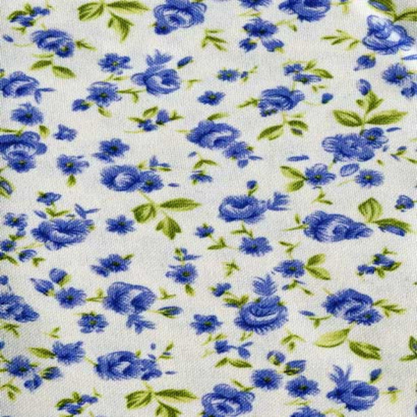 Close-up  shot of Blue Ashley-Floral-Valance