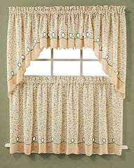 Ashley Floral- Tier- and-Valance