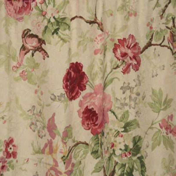Closeup of Red Balmoral Tailored Valance fabric