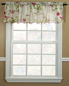 Balmoral Tailored Valance hanging on a curtain rod