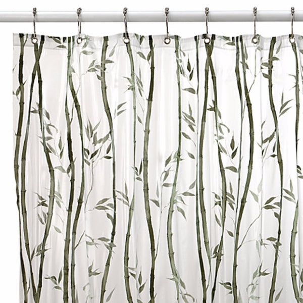Closeup of Bamboo Peva Vinyl Shower Curtain