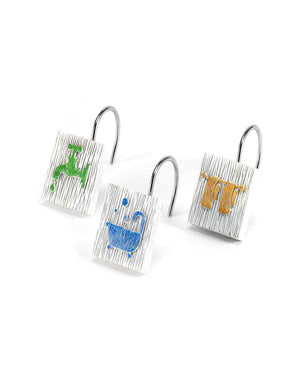 Bath Words Shower Hooks