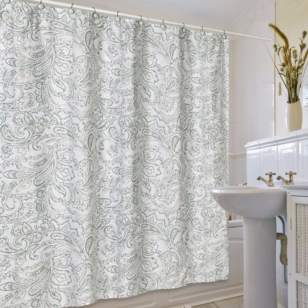 Beaumont Fabric Shower Curtain By Jennifer Adams