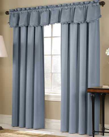 blackstone room darkening panel u0026 valance - Room Darkening Curtains