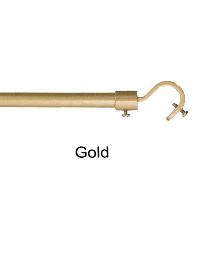 Gold Blockaide-5/8-Diameter Bay Window Rod Set Add A Rod