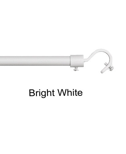Bright White Blockaide-5/8-Diameter Bay Window Rod Set Add A Rod