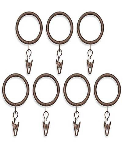 Ant Brown Blockaide-5/8-Diameter Bay Window Rod Set Clip Ring Black