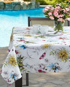 Blooming Floral Indoor/Outdoor Spill-proof Fabric Tablecloth
