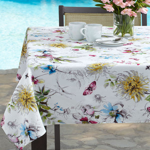 Blooming Floral Indoor/Outdoor Spill-proof Tablecloth/ Benson Mills ...