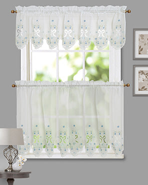 Blossoms & Bows Kitchen Curtain and Valance
