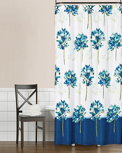 Blue Medley Fabric Shower Curtain