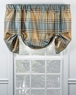 Boroughs Plaid Lined Tie-Up Valance