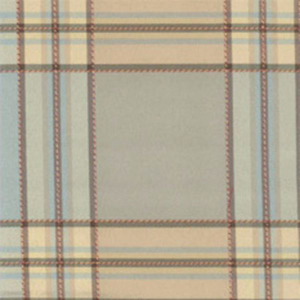 Closeup of Blue Boroughs Plaid Tailored Valance