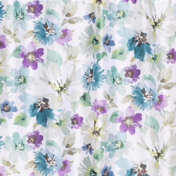 Close up shot of Multi Bouquet Fabric Shower Curtain fabric