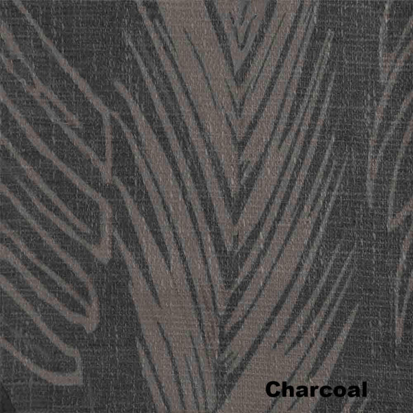Up close shot of Charcoal Brookfield Lined Blackout Grommet Top Panel fabric