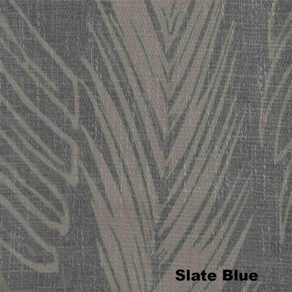 Up close shot of Slate Blue Brookfield Lined Blackout Grommet Top Panel fabric