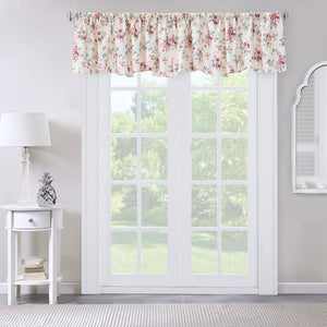ThermaLogic Cabbage Rose Insulated Scalloped Valance