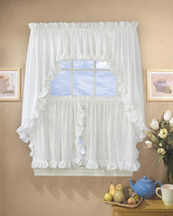 Cape Cod -Ruffled- Tier-Valance- and- Swag