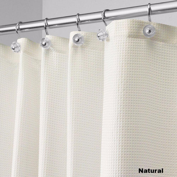 Close Up Shot Of Natural Carlton Fabric Shower Curtain Standard 108 Wide