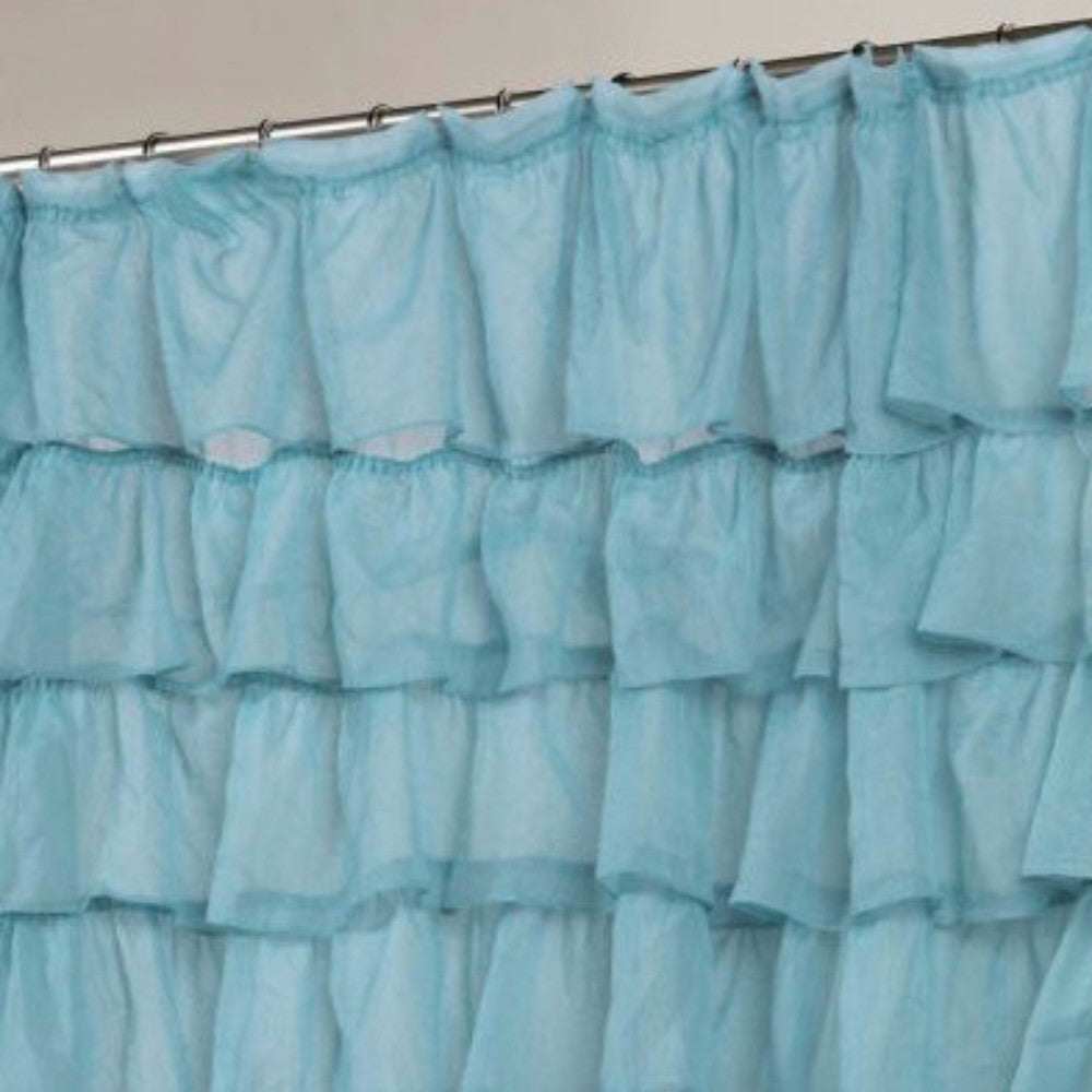 Carmen Ruffled Fabric Shower Curtain | Curtainshop.com