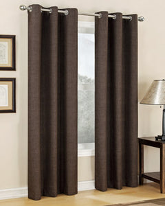 Carter Thermal Lined Grommet Panel hanging on a decorative rod