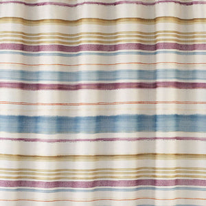 Close up shot of Multi Caymen Stripe Fabric Shower Curtain fabric