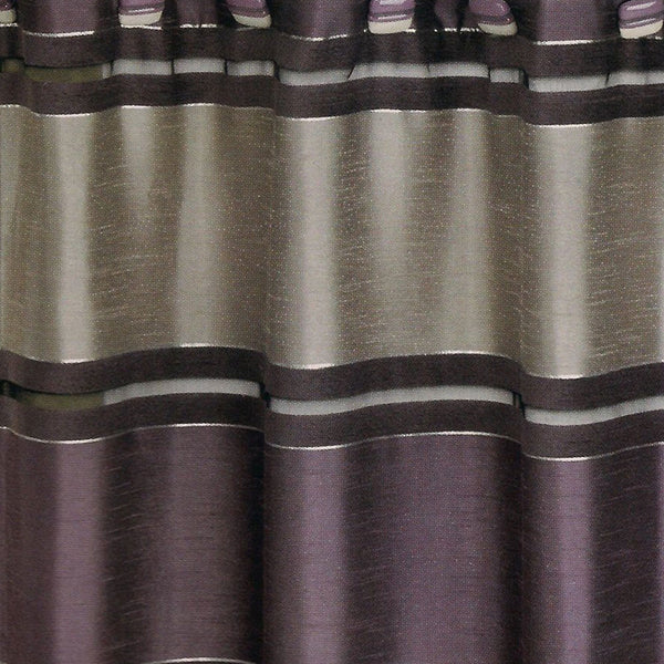Close up shot of Purple Chantelle Fabric Shower Curtain fabric